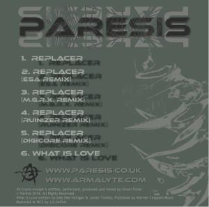 Paresis Replacer Cover